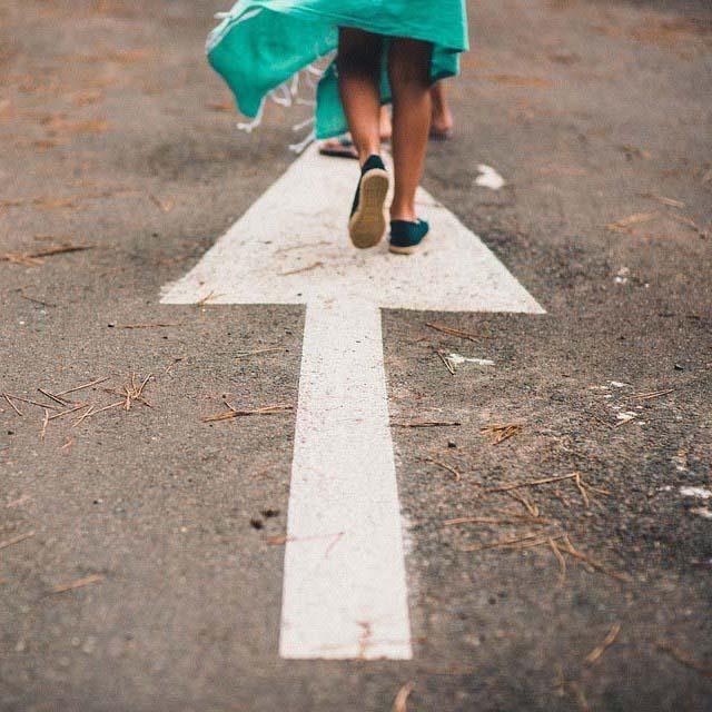 walking on the arrow